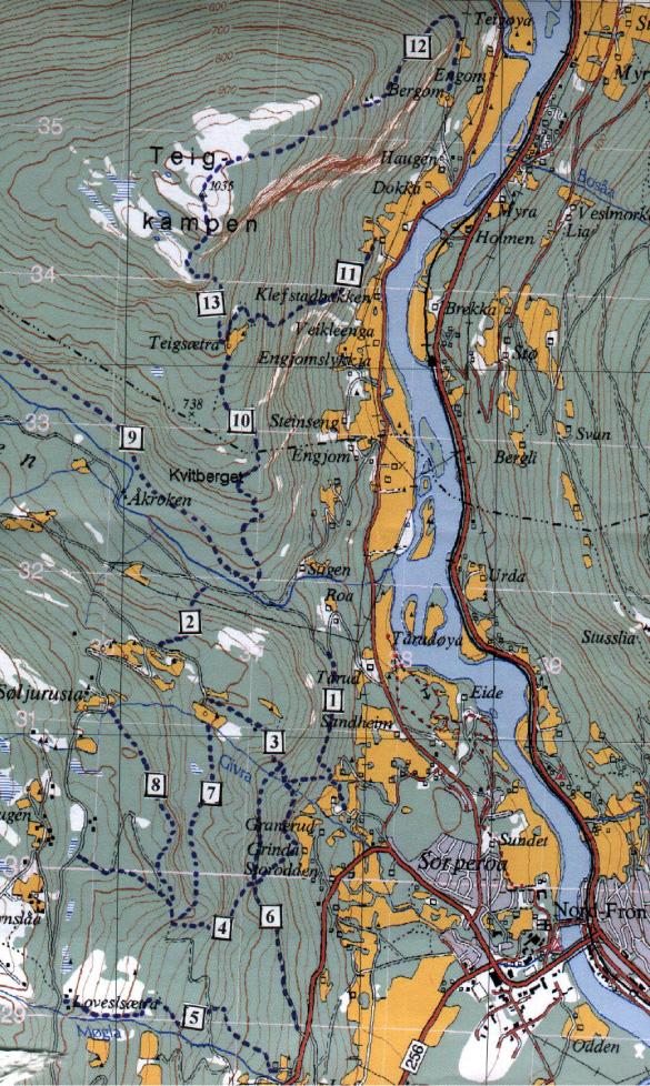 Seterråk-kart